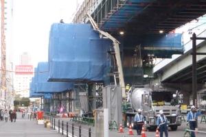 2・3ブロック梁拡幅コンクリート打設