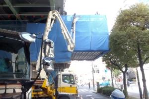 1ブロック梁拡幅コンクリート打設