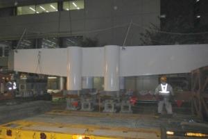 2ブロック鋼製梁 搬入・組立・仮置