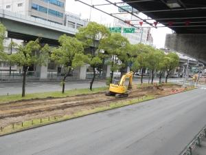 1・2ブロック中央分離帯樹木撤去