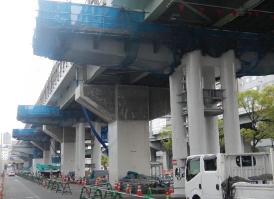 1・2ブロック鋼製6橋脚 架設完了