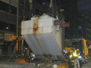 3ブロック 鋼製既設梁取り外し