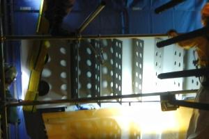 4ブロック鉄製橋脚梁拡幅部材 取り付け