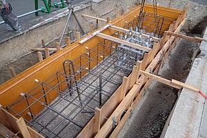 5ブロック大型標識移設 基礎工事