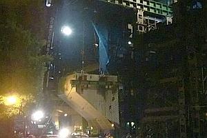 0ブロック鉄製橋脚改築部材 取り外し