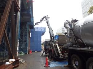 2ブロック 再構築梁コンクリート打設