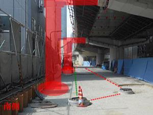 9ブロック 地下消防貯留管迂回工事完了