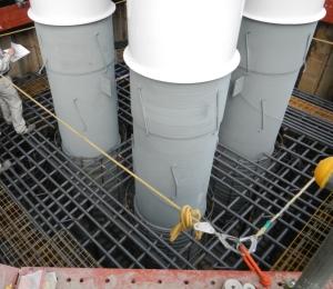 4ブロック鋼製橋脚 下柱建柱