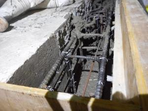 7・8ブロック 耐震補強コンクリート打設
