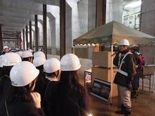 開削トンネルの造り方実演