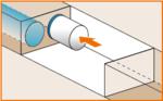 図:④再発進位置に設置