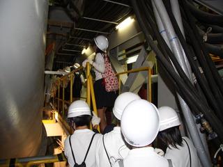 シールドトンネルの見学