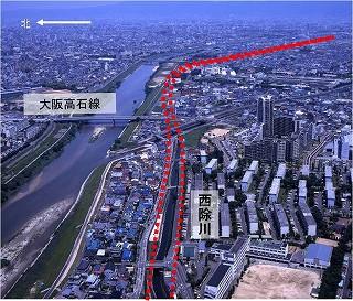 東浅香山町付近〜常磐町付近