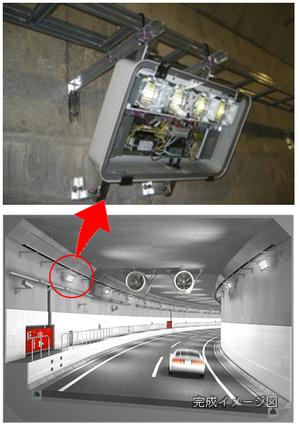 画像:トンネル内LED照明