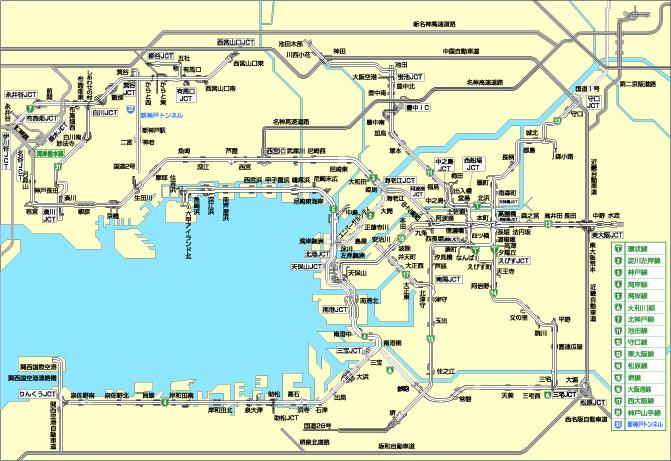 関西高速道路路線図 - ryoko.info